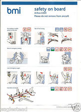 Safety Card - bmi - Airbus A320 - D Version / No other code (S3495)
