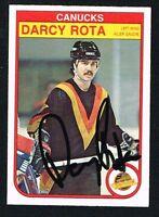 Darcy Rota #355 signed autograph auto 1982-83 O-Pee-Chee Hockey Card