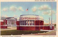 ENTRANCE, SCOTT FIELD, BELLEVILLE, IL. Headquarters in background