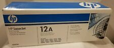 New Sealed Genuine HP LaserJet 12A Black Toner Cartridge