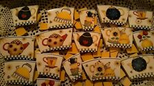 New listing Debbie Mumm Teapots Broken Plate Mosaic Tiles