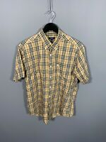 BURBERRY NOVA CHECK SHORT SLEEVED Shirt - Large - Great Condition - Men's