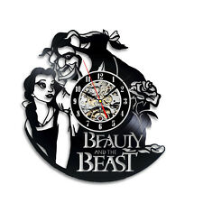 Decoration Room, Exclusive Gift, Beauty And The Beast Vinyl Record Wall Clock