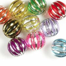 12pcs Acrylic Foil Beads Round Bangle Necklace Jewellery 12x12mm EBAR0400