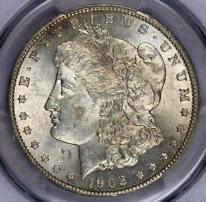 1902-S 1902 Morgan Silver Dollar PCGS AU58 beautiful original coin!