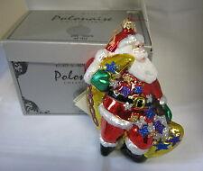 New Polonaise Kurt Adler 2000 Santa Glass Christmas Ornament Ap1012 Komozja