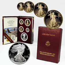1995-W U.S. Mint 10th Anniversary Gold and Silver Eagle Proof Set SKU1342