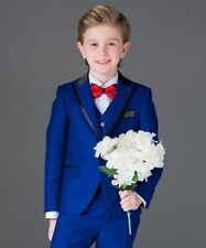 Boys Suits Royal Blue Formal Flower Boys Wedding Tuxedo PageBoy Party Prom Suits