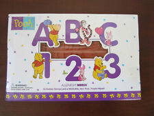 All Night Media Winnie -The-Pooh ~ ABC 123 ~ Rubber Stamp Set ~ 36 Stamps ~ NEW