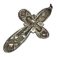 1700-1800's Silver Russian Byzantine Cross Pendant Artifact Europe Orthodox C