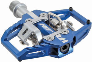 HT Pedals T1 clipless platform pedals, CrMo spindle - royal blue