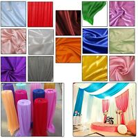 10m Ice Silk Fabric Backdrop Swag Curtains Home Banquet Wedding Decor Overlay