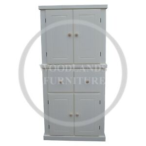HANDMADE DEWSBURY LARDER CUPBOARD IN WHITE, MANY COLOURS AVAILABLE  (ASSEMBLED)