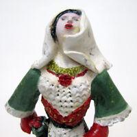 """MARIA MURGIA  """"Costume sardo"""" - scultura in terracotta dipInta a mano + Archivio"""