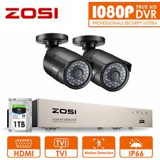30M Visi/ón Nocturna 4 ZOSI 8CH 5MP Kit de C/ámaras de Vigilancia PoE H.265+ PoE NVR + 1TB Disco Duro C/ámara de Seguridad Exterior