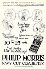 Philip Morris & Co. London-New York-Montreal-Cairo* American Ad. in the thirties
