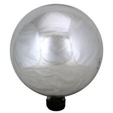 """Northlight 10"""" Shiny Silver Outdoor Patio Garden Gazing Ball"""