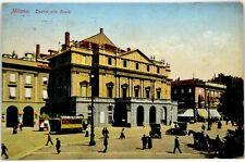 Cartolina Formato Piccolo - Milano - Teatro Alla Scala Viaggiata
