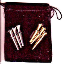 Cribbage Board Pegs 6-Irish Crown-Top, 3-Sizes  4-Different Metals  Velvet Bag a