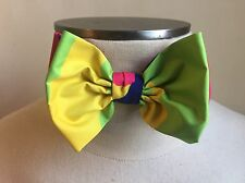 DSQUARED² CASUAL DRESS NEON GREEN YELLOW CAMOUFLAGE BOW TIE S ONE SIZE PAPILLON