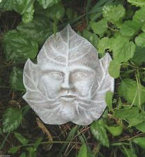 cement plaster clay leaf face w/ tips up plastic mold