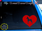 Miniature Pinscher in HEART -Vinyl Decal Sticker -Color Choice -HIGH QUALITY
