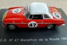 Universal Hobbies Eagle's Race MGB diecast model - No 47 - red, white top - 1966