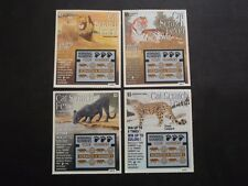4 - 1998 CONNECTICUT SV SAMPLE LOTTERY TICKETS - CAT SCRATCH FEVER - WILD CATS