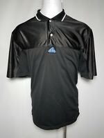 Adidas XL Black White Side-Snap Men's Mesh Basketball Polo Jersey Shirt