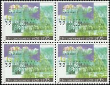 US 2980 Women's Suffrage 32c block (4 stamps) MNH 1995