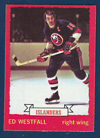 ED WESTFALL 73-74 O-PEE-CHEE  1973-74 NO 67 EXMINT+  DARK BACK