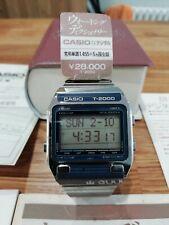 Casio T2000 stainless steel vintage 1980's translator digital watch NOS BNIB