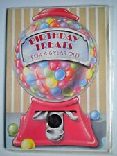 "VINTAGE ""BIRTHDAY TREATS FOR A 6 YEAR OLD"" GREETING CARD by Beaucraft"