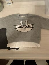 Zara Baby Girl Bugs Bunny Jumper Grey Size 9-12 Months