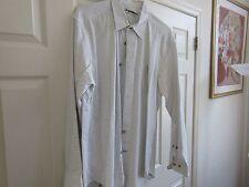Indigo Palms  , Size XL ,  Men's Long Sleeve Shirt ,  100% Cotton