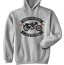 HONDA CB 450 BLACK BOMBER - GREY HOODIE - ALL SIZES IN STOCK