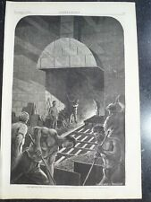 Iron Steel Workers Tapping The Blast Furnace Harper's Weekly 1873