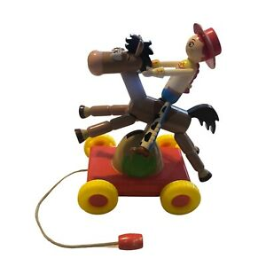 Disney Pixar Toy Story Jessie & Bullseye Pull Toy Horse Cowgirl Collectible EHTF
