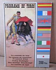 PROGRAMA DE TOROS vtg bullfighting program Spain bullfighter bios Latin book 80s