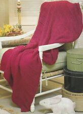 Knitting Pattern ~ Royal Luxury Afghan ~ Instructions