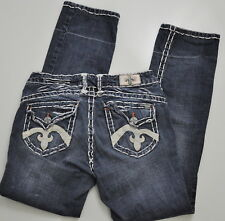 Laguna Beach Jeans Women's Size 30 X 29 straight let Embroidered Pockets