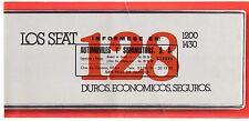 Seat 128 1977 Spanish Market Foldout Sales Brochure 1200 1430 Fiat 128 3P