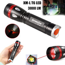 3000LM 3 Modes Zoom CREE XML T6 LED 18650 Waterproof Flashlight Torch Lamp Light