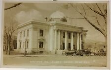 RPPC Real Photo Postcard ~ Reno NV Washoe County Court House ~ Old Autos
