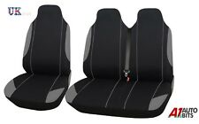 2+1 GREY & BLACK COMFORT FABRIC SEAT COVERS FOR RENAULT TRAFIC MASTER VAN
