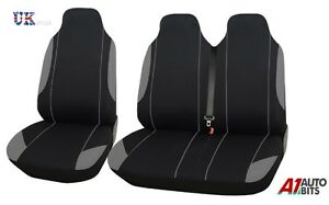 2+1 GREY - BLACK SOFT & COMFORT FABRIC SEAT COVERS FOR DAILY VAN NEW