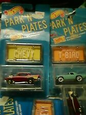 1988 PARK 'N PLATES - 57 Chevy Hot Wheels & 57 T-Bird Brand New Sealed Package