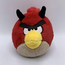 "Angry Birds Halloween 5"" Plush Red Bird Devil Horns Stuffed Animal"