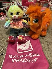 BUILD A BEAR PLUSH WITH CARRIER LOT