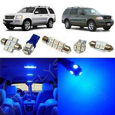 8x Blue LED lights interior package kit for 2002-2010 Ford Explorer FX1B